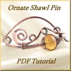 Hair Barrette or Shawl pin, Wire