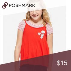323951198b Two - fer red shirt Absolutely adorable. Detachable. So can wear each one  separate