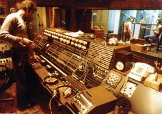 Jack Douglas at the Datamix console in the Record Plant's Studio C, recording the New York Dolls' debut album.