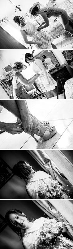 preparazione sposa presso l'abitazione dei genitori