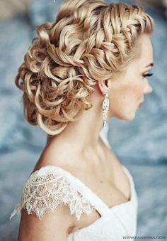 french braided curly braid