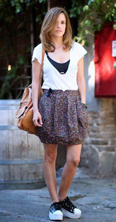 The Pisces Woman fashion blog בלוג אופנה: balloon skirt and sporty Bra