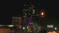 to celebrate the upcoming 30th anniversary of tetris, drexel university professor frank lee and his team hacked the lighting system of cira centre