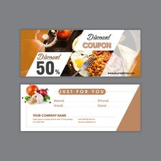 Gift Voucher Food Of Restaurant - Voucher Design - Restaurant Restaurant Promotions, Restaurant Discounts, Restaurant Specials, Restaurant Offers, Food Design, Food Poster Design, Design Design, Free Printable Gift Certificates, Christmas Gift Certificate Template
