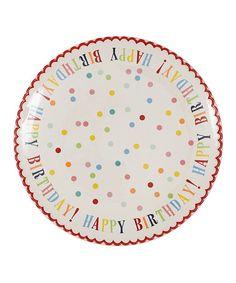 Love this 'Happy Birthday!' Ceramic Plate on #zulily! #zulilyfinds