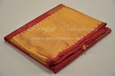 Red Chilli Silk Cotton Saree with Zari Rich Pallu & Big Bavanchi Border Silk Cotton Sarees, Red Chilli, Big, Wedding, Red Chili, Valentines Day Weddings, Weddings, Marriage, Chartreuse Wedding