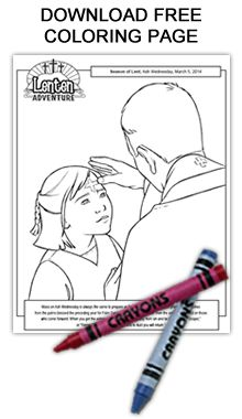 Free Ash Wednesday coloring page and booklet Religion Activities, Book Activities, Teaching Religion, 40 Days Of Lent, Kindergarten Colors, Prayer Stations, Preschool Coloring Pages, Prayers For Children, Easter Religious