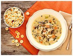Creamy Turkey (or Chicken!) and Wild Rice Soup via a farmgirl's dabbles