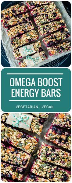 Omega Boost Beetroot & Blackcurrant Energy Bars