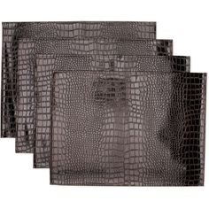 Hometrends Set of 4 Poya Placemats, Chocolate
