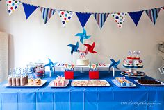 boy pinwheel party