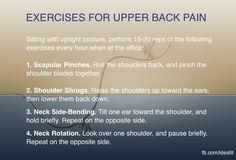 Exercises for upper back pain