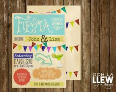 Mexican Fiesta Engagement Party Couples Shower by OohLaLlew Wedding Ideas Board, Couples Shower Invitations, Shower Time, Couple Shower, Rsvp, Party Ideas, Messages, Engagement, Fiestas