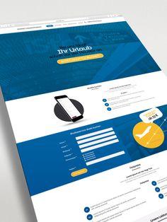 Screendesign und grafische Gestaltung einer Landingpage (Onepager) für einen Transportunternehmer auf Basis von WordPress