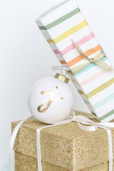 monogram ornaments gift tag-132