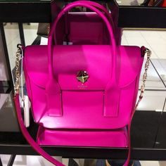 Kate Spade new bond street bag in shocking pink! I want it now! :)