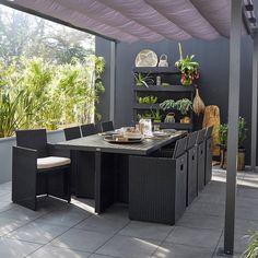 Salon jardin Cap gris anthracite, Salon de Jardin Leroy Merlin ...