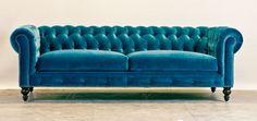 Blue velvet Chesterfield <3