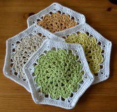 Atelier Marie-Lucienne: Hexagon and Coasters Pattern - Anleitung Sechsecke und Untersetzer