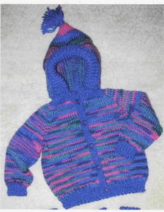 Free Knitting Pattern - Toddler & Children's Clothes: Striped Hoody