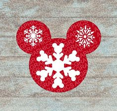 Mickey Snowflake Mouse Head SVG DXF JPEG and Studio