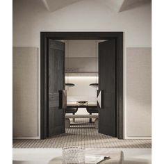 Brick Flooring, Home Room Design, Interior Design Inspiration, Inspiration Boards, Door Design, Wall Design, Windows And Doors, Interior Architecture, Adobe Photoshop