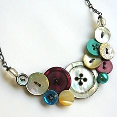 Grandmother's Buttons CUSTOM Necklace by buttonsoupjewelry, $30.00