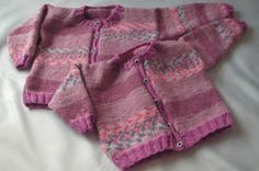 Easy Knit Baby to Toddler Button Up Cardigan.