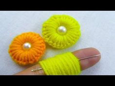 This video about:Hand Embroidery, Amazing Trick, Easy Flower Embroidery Trick, Sewing Hack, Crafts & Embroidery Welcome to my channel crafts & Embroidery! Hand Embroidery Flower Stitching By Amma arts Hand Embroidery Flowers, Hand Embroidery Patterns, Diy Embroidery, Sewing Patterns Free, Free Sewing, Embroidery Stitches, Hand Sewing, Yarn Flowers, Crochet Flowers