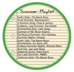 Awesome Summer Playlist