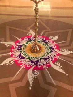 Wall paper ideas creative patterns ideas for 2019 Simple Art Designs, Simple Flower Design, Simple Rangoli Designs Images, Rangoli Designs Flower, Colorful Rangoli Designs, Rangoli Designs Diwali, Flower Rangoli, Beautiful Rangoli Designs, Flower Designs