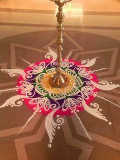 Wall paper ideas creative patterns ideas for 2019 Simple Art Designs, Simple Flower Design, Simple Rangoli Designs Images, Rangoli Designs Latest, Rangoli Designs Flower, Colorful Rangoli Designs, Rangoli Designs Diwali, Flower Rangoli, Beautiful Rangoli Designs