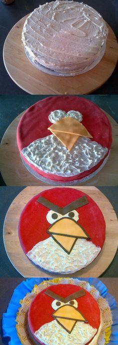 Angry Bird cake for my nephew :)