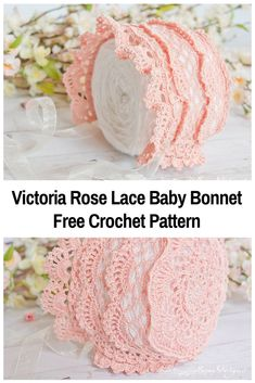 Absolutely Lovely Crochet Baby Bonnet Free Pattern
