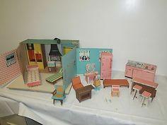 Vintage Ideal 1963 Tammy's Cardboard Doll House Model 9308 RARE | eBay