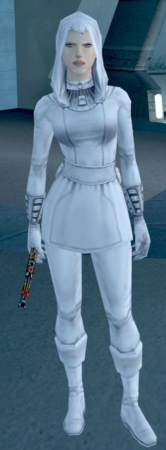 "Brianna, also known as ""The Last Handmaiden,"" or simply ""Handmaiden,"" was a half-Human half-Echani hybrid fighter, and illegitimate daughter to the famous Echani General Yusanis and Jedi Master Arren Kae, who both fought in the Mandalorian Wars. She later served along with her five half-sisters as a handmaiden to Jedi Master Atris in the period following the Jedi Civil War. During her service to Atris at the Jedi Academy on Telos IV, Brianna met Meetra Surik, also known as the Jedi Exile..."