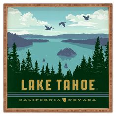 Anderson Design Group Lake Tahoe Square Tray - Green, True Green