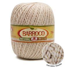 Barroco Natural Brilho nas versões Ouro E Prata, O toque, maciez e durabilidade do Barroco Natural. Indicado para Croche e peças de decoração e tapetes
