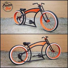 Ruff Cycle bike built by The Cruiser Shop Cruiser Bicycle, Motorized Bicycle, Cruiser Motorcycle, Trike Bicycle, Cool Bicycles, Cool Bikes, Custom Beach Cruiser, Harley Davidson, Bicycle Types