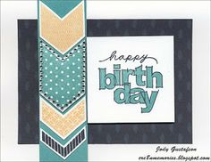 Cre8n' Memories: Birthday Greetings with Sparkle Chevrons