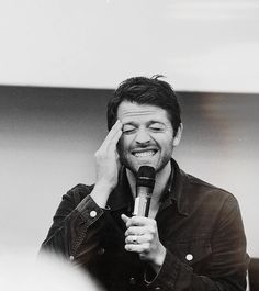 """misha-collins: """" """"People come up to me at conventions and say things that are so sweet and endearing and, you know, like they admire me and what I've done, and I just don't know how to respond because I do feel very unworthy of that. But I do..."""