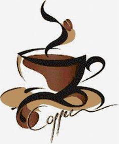 """Schéma broderie """"tasse de café"""" - Plans auteur «Leliana» - Point de Croix"""
