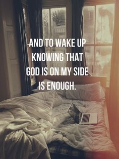 Inspiration) Knowing that God is on my side is enough.Knowing that God is on my side is enough.(Spiritual Inspiration) Knowing that God is on my side is enough.Knowing that God is on my side is enough. Good Quotes, Quotes To Live By, Me Quotes, Qoutes, Inspirational Quotes, Motivational, Faith Quotes, Bible Quotes, Strength Quotes