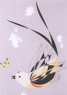 Scissor-Tailed Flycatcher, Charley Harper 1956