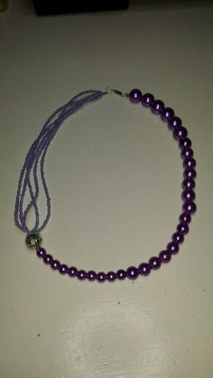 Paarse ketting Homemade