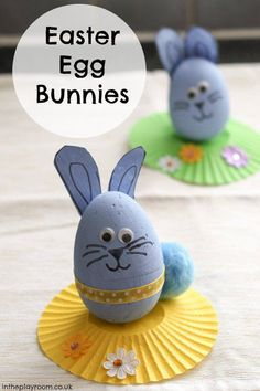Easter Egg Bunnies kids' craft activity - so cute!