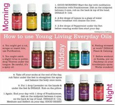 How to use essential oils in your daily routine.  #youngliving