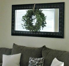 Floor Mirror Above Living Room Couch