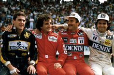 The essence of F1 (Ayrton Senna, Alain Prost, Nigel Mansell, Nelson Piquet)