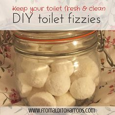 Keep your toilet clean with these DIY toilet fizzies. These are so simple to make and last ages, not to mention how thrifty they are! Click through to read more or pin it for later